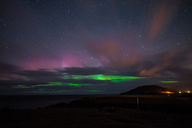 Pics stunning aurora borealis over inishowen co donegal