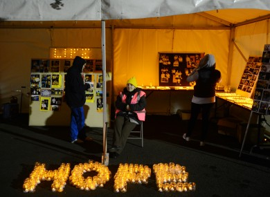 A scene from the Pieta House Darkness Into Light fundraiser.