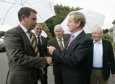 Fine Gael TD John Deasy with Enda Kenny in Waterford in 2010