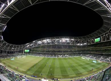The Aviva Stadium.