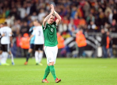 Ireland's Glenn Whelan after last night's game.