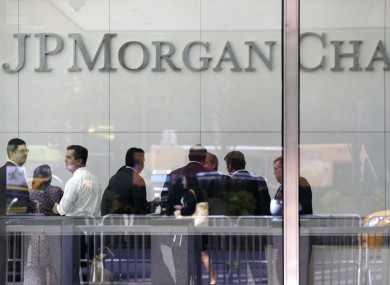 The lobby of JP Morgan Chase headquarters on Park Avenue in New York