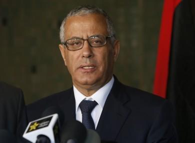 Libyan's Prime Minister Ali Zeidan