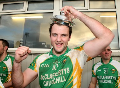 Glenswilly's Michael Murphy celebrates after the game.