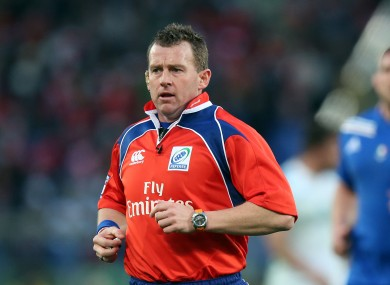 Owens will officiate Ireland's game against the All Blacks.