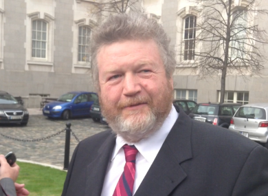 James Reilly speaking to the media today