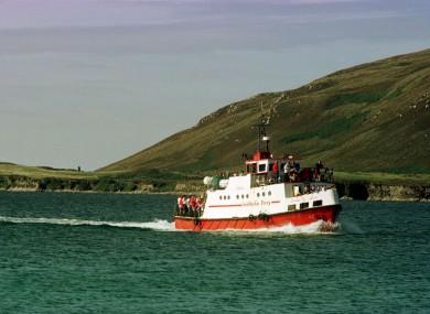 Queen of Arran ferry off coast of Inishbofin