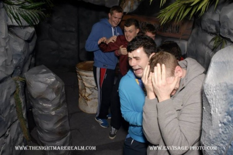 Haunted House Ireland Lads in a Haunted House