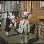Residents of lower Clinton St. near East river, Saturday afternoon (1941)<span class=
