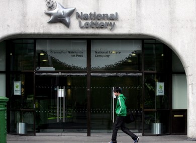 The National Lottery headquarters on Abbey Street in Dublin