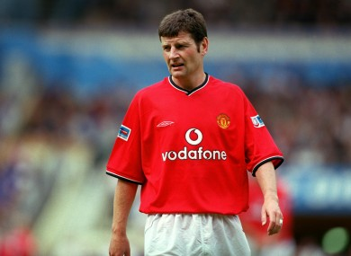 Irwin made 529 appearances for Man Utd.