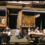Stores near corner of Broome St. and Baruch Place, Lower East Side (1941)<span class=