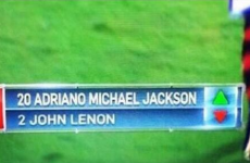 'The greatest substitution in the history of football and music'
