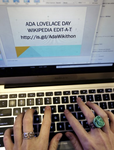 Wikipedia 'edit-a-thon' tries to increase representation of women there