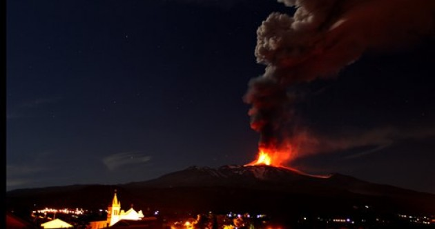 Mount Etna volcano in Sicily erupts