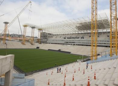 The Arena Corinthians in Sao Paulo, Brazil.