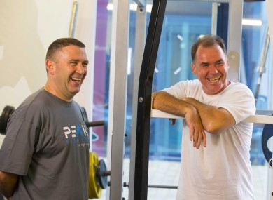 Pat Flanagan and Jimmy Payne in their Peak Fitness gym in Waterford.