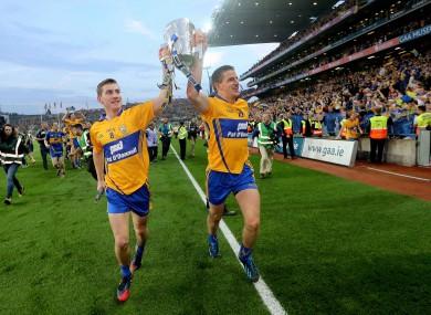 Clare's Colm Galvin and John Conlon.