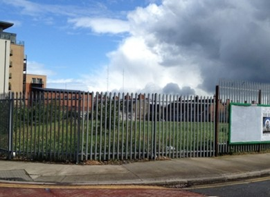 The derelict site on Chamber Street in Dublin 8 which may be redeveloped into a public park.