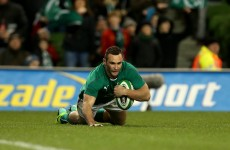 Double try-scorer Kearney makes mark on Ireland debut