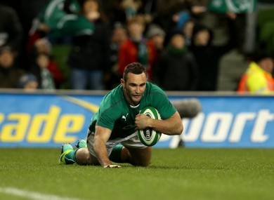 Kearney touches down for his second try last night.