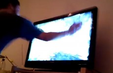 VIDEO: German man smashes up his TV after losing it over FIFA 14