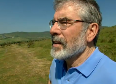 Gerry Adams in a still from the new TV3 documentary