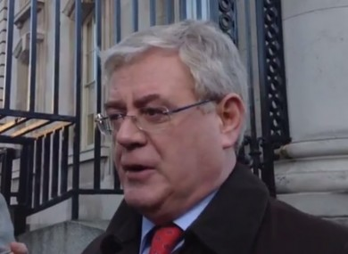 Tánaiste Eamon Gilmore speaking before this morning's Cabinet meeting