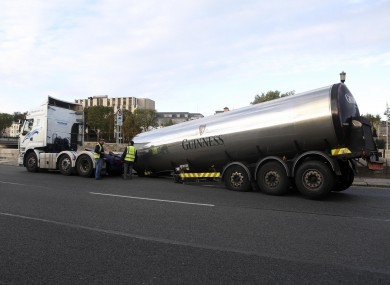 Guinness Truck on Victoria Quay