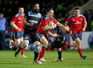 JJ Hanrahan in action for Munster.
