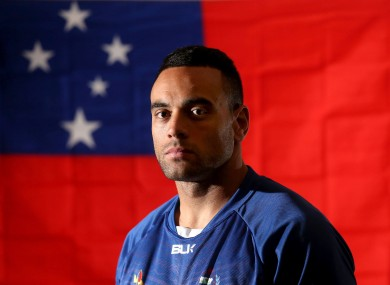 Fotuali'i is the star of the Samoa team and now the captain.
