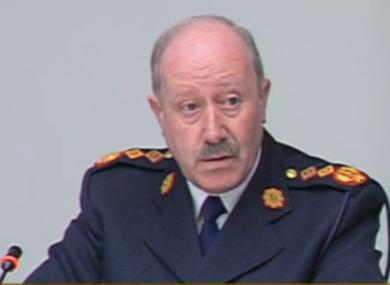 Garda Commissioner Martin Callinan speaking at the committee.