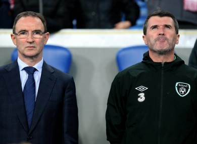 Ireland manager Martin O'Neill and assistant Roy Keane.