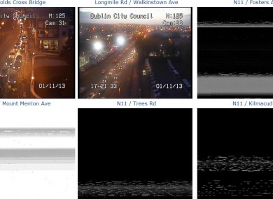 The N11 traffic cameras, which have been hit by the outage.