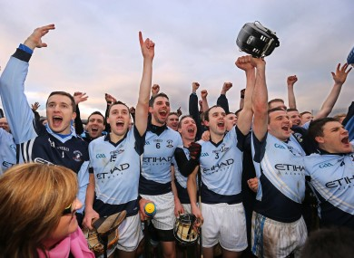 Celebration time for the Na Piarsaigh players.