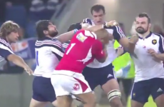 Red cards for French and Tongan foes after rugby brawl