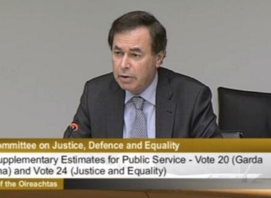 Alan Shatter before the Justice Committee today