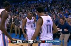 Russell Westbrook drops three-point game-winner with 0.1 seconds to spare