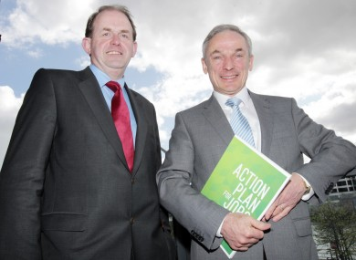 Frank Ryan and Fine Gael Minister for Jobs, Enterprise and Innovation Richard Bruton.