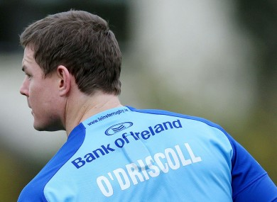 O'Driscoll: has recovered from his concussion.