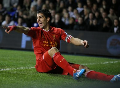 Suarez: his 16th goal of the season gave Liverpool the lead at White Hart Lane?