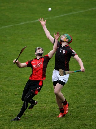 Mount Leinster Rangers' Edward Byrne and Eoin Moore of Oulart-The Ballagh.