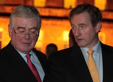 Tánaiste Eamon Gilmore and Taoiseach Enda Kenny at Leinster House last night