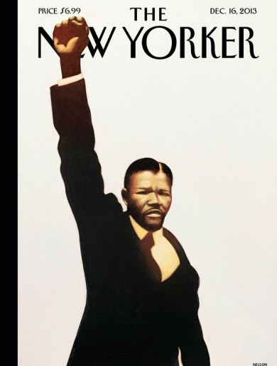 The New Yorker honours Nelson Mandela with striking cover image