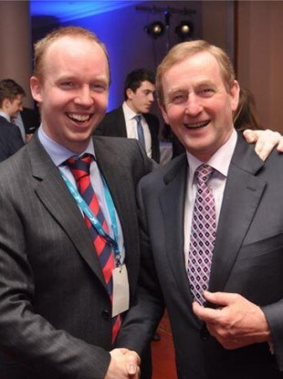 Noel Rock with Taoiseach Enda Kenny