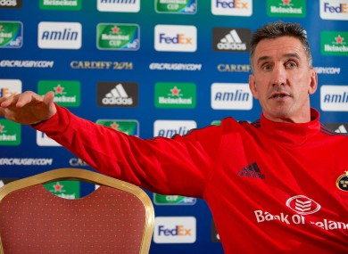Main man: Rob Penney is tasked with developing young players.