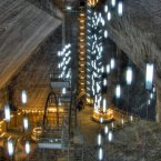 Enter Salina Turda, a salt mine in Transylvania, Romania that has been a popular tourist attraction since the '90s. Dating back to the 17th century, the mine now even has a carousel ride and amphitheater deep in the cavern.<span class=