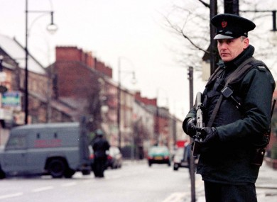 RUC officer on the streets of Northern Ireland (File photo)