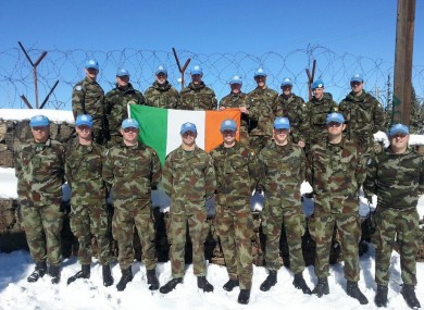 Irish personnel in the Golan Heights