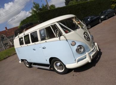 A van being used as a wedding car in the UK